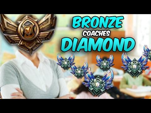Bronze Player Coaches a Diamond Player - League of Legends
