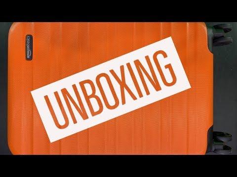 AmazonBasics Hardside Spinner Luggage Unboxing
