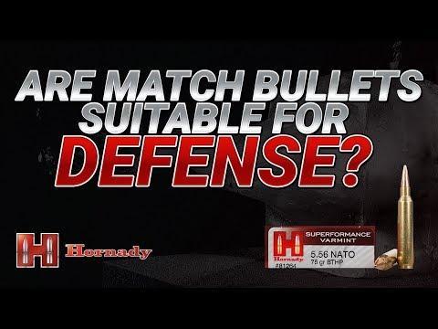 Are Match Bullets Suitable for Defense? Hornady 75gr BTHP Gel Test