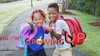 SIA'S FIRST DAY OF SCHOOL | LIL SHAREEF'S IN 1ST GRADE