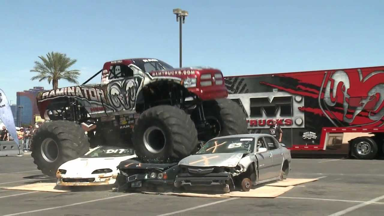 Raminator Monster Truck Crushes Cars Youtube
