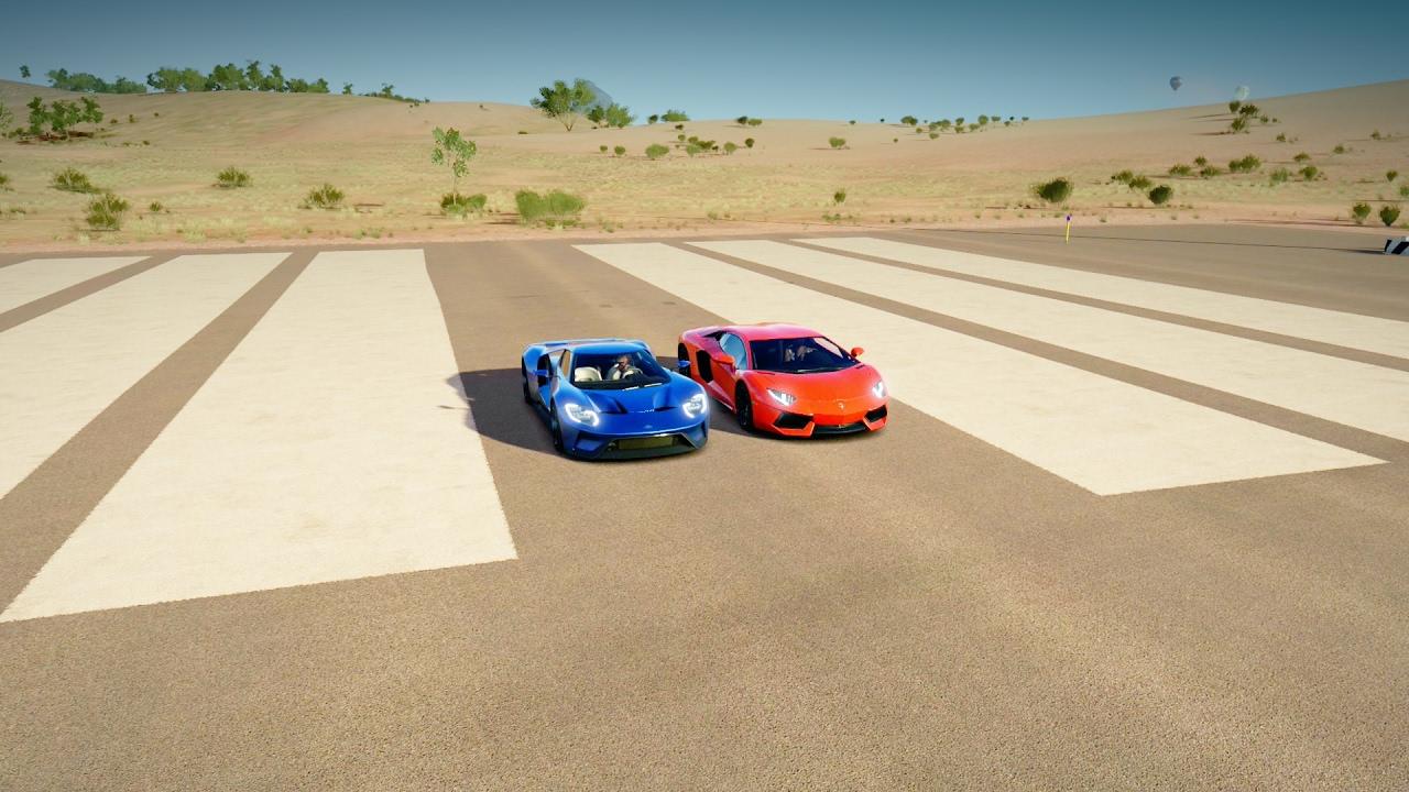 Ford Gt Vs Lamborghini Aventador Drag Race Forza Horizon  Youtube