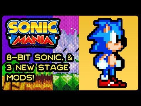 SONIC MANIA - 8-Bit Sonic, 3 NEW Stage Mods! (4K/60fps) #MushroomKingdom #EmeraldHill #AuroraGarden