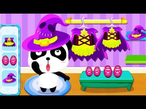Baby Panda's Supermarket Grocery Store - Join The Fun Halloween Party Shopping Kids Games