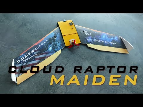 Cloud Raptor 1000mm EPP [FPV] WING - Maiden 👍