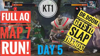 Full AQ Map 7 Day 5 Run! Dr.Doom , Hyperion And Blade Form An Unlikely Trio! No Items!