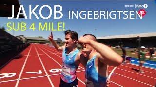 Jakob Ingebrigtsen 3:58 Mile | Youngest Ever To Break 4 In The Mile! | Diamond League Eugene 2017