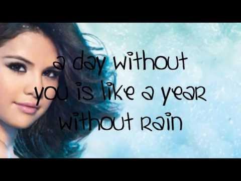 Selena Gomez - A year without rain (lyrics in video)