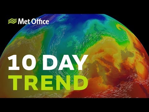 10 Day trend - April showers at first, but what will May bring?