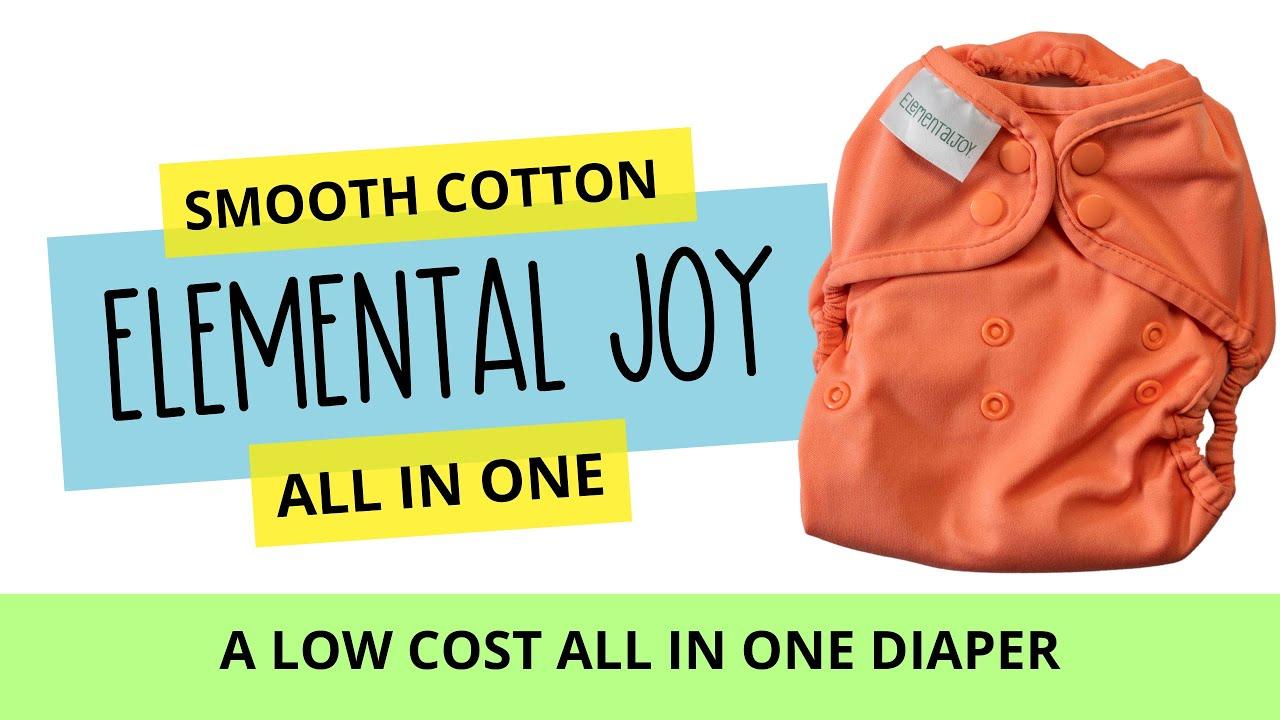 Elemental Joy AIO Cloth Diaper Review - Cotton Babies Diapers