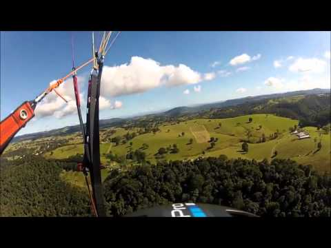 Scary Paraglider Hang Glider Collision