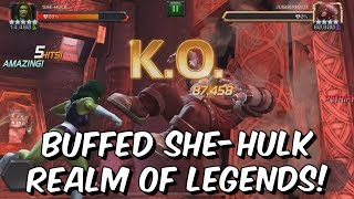 5 Star Buffed She-Hulk VS Realm of Legends Wolverine & More! - Marvel Contest Of Champions