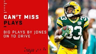 Two Big Plays by Aaron Jones on Packers TD Drive!
