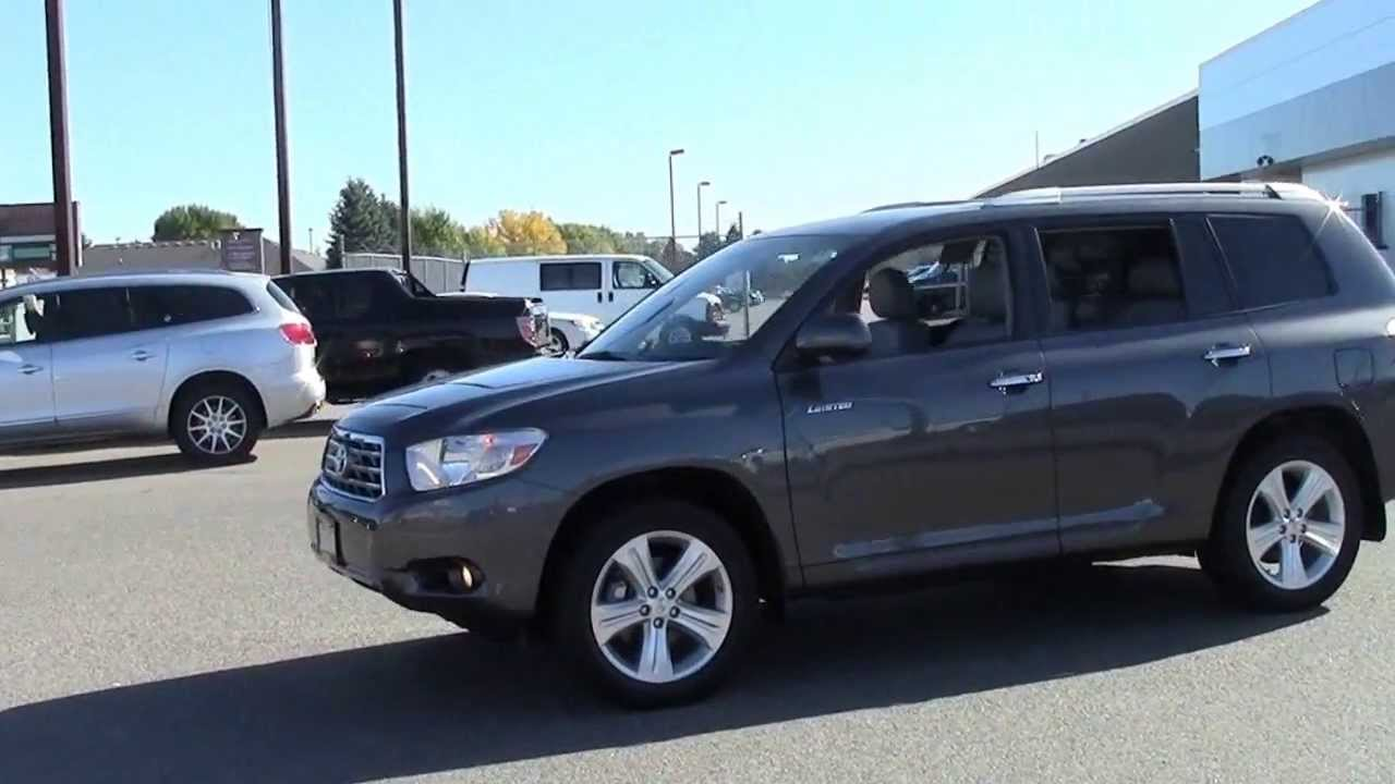 2009 Toyota Highlander 4wd Limited Youtube