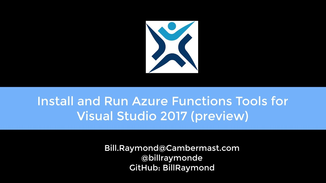 Install and use Azure Function Tools for Visual Studio 2017