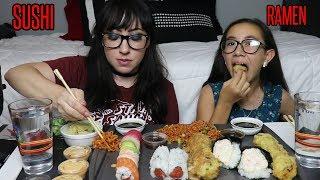 SUSHI AND RAMEN MUKBANG   EATING SHOW