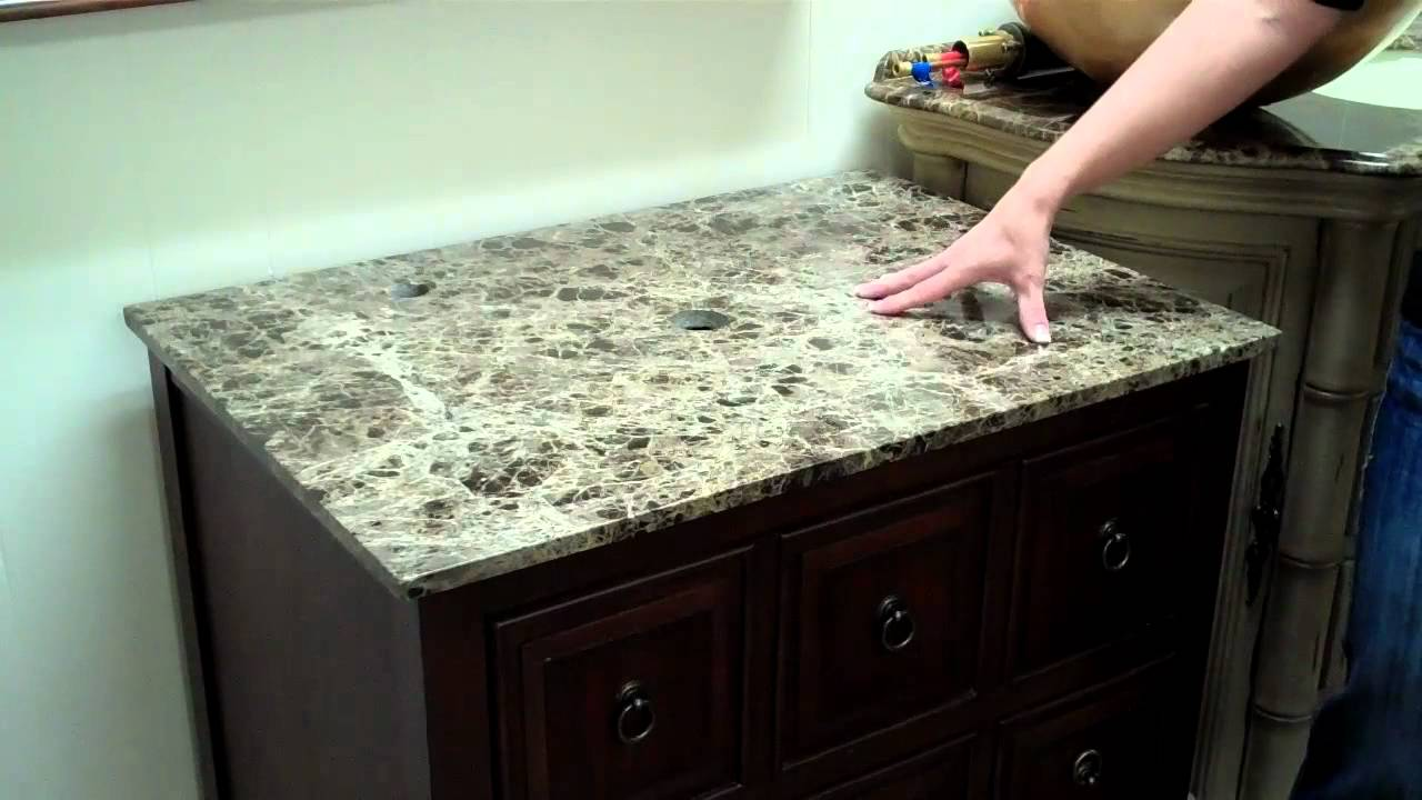 Choosing a Bathroom Vanity With a Vessel Sink - YouTube