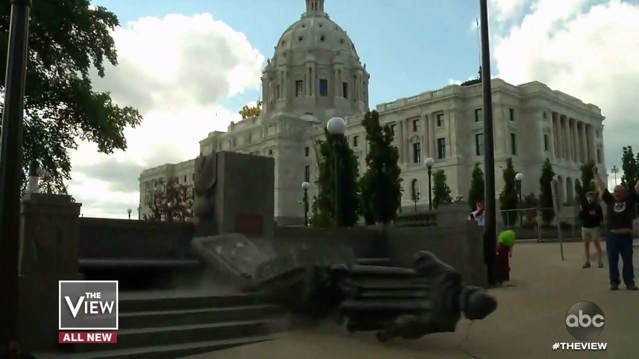 Confederate Statues Toppled By Protesters   The View