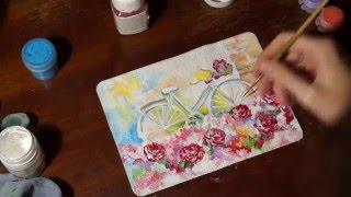 Speedpaint[№5] Рисуем АКРИЛОМ. Ретро велосипед в пастельных тонах!(Есть вопросы?=) Обращайтесь! vk ➜ https://vk.com/public100195968 fb ➜ https://www.facebook.com/groups/1680570092163436/ так же мои страницы в соц., 2016-01-04T21:31:06.000Z)