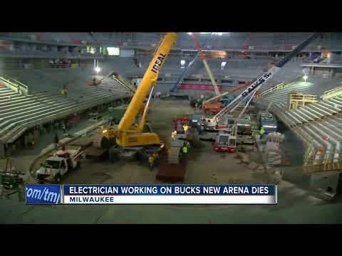 Electrician dies after accident at site of new Milwaukee Bucks arena downtown