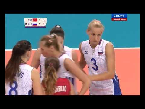 Европейские игры в Баку Волейбол женщины 1/4 финала сб России vs сб Турции