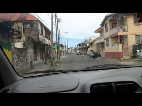 Driving in Dominica: Approaching Roseau from the south