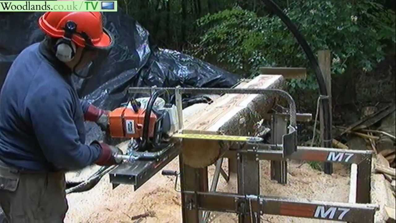 Saw Mill For Sale >> Portable Chainsaw Mill - Logosol M7 - YouTube