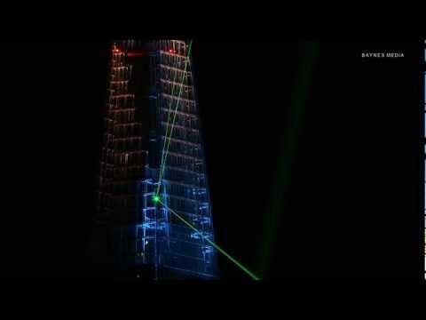London Shard light show REMIXED