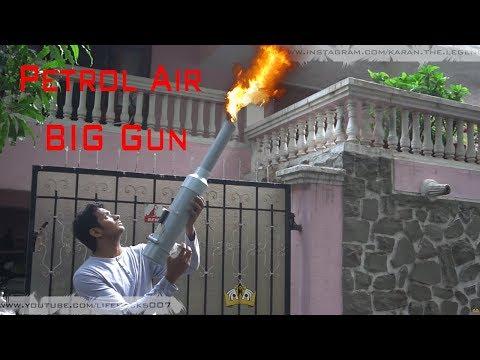 How To Make Petrol & Gas Electric Air Gun | Petrol PVC Pipe | HomeMade | DIY | TUTORIAL