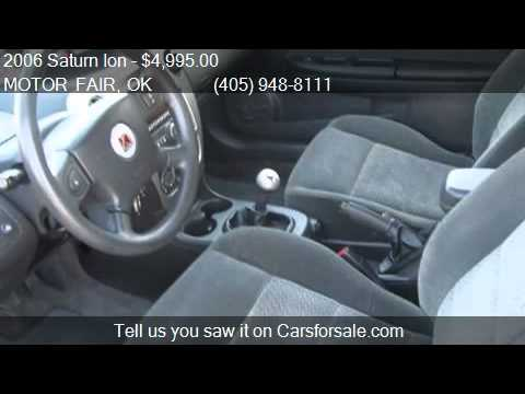2006 saturn ion ion 3 quad manual for sale in oklahoma city youtube rh youtube com 2006 saturn ion manual transmission mount 2006 saturn ion manuals trans mounts