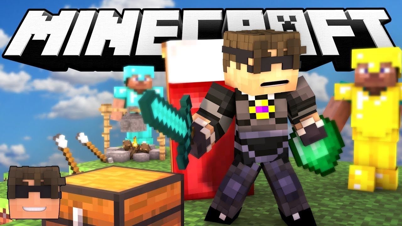 Minecraft BED WARS!   PROTECT YOUR BED! (Minecraft Bed ...