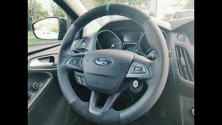 DIY leather steering wheel cover