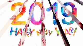 Happy New Year 2019 3D gif Wish Whatsapp Status 2019 Happy New Year My Dear Friend s