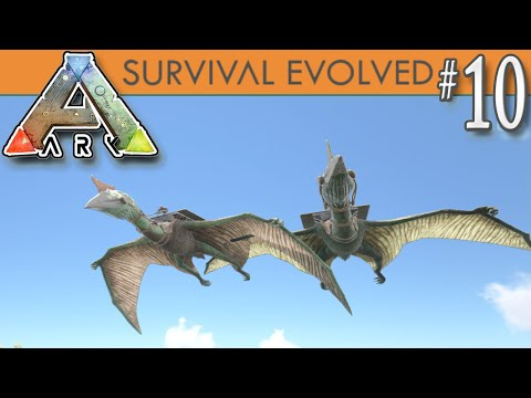 ARK: Survival Evolved - Quetzal Taming! New Flying Dino Bird -  E10