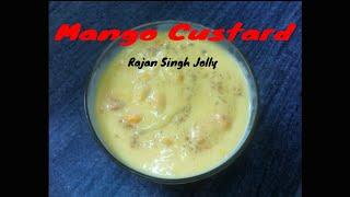 Mango Custard Recipe (in Hindi With English Subtitles)
