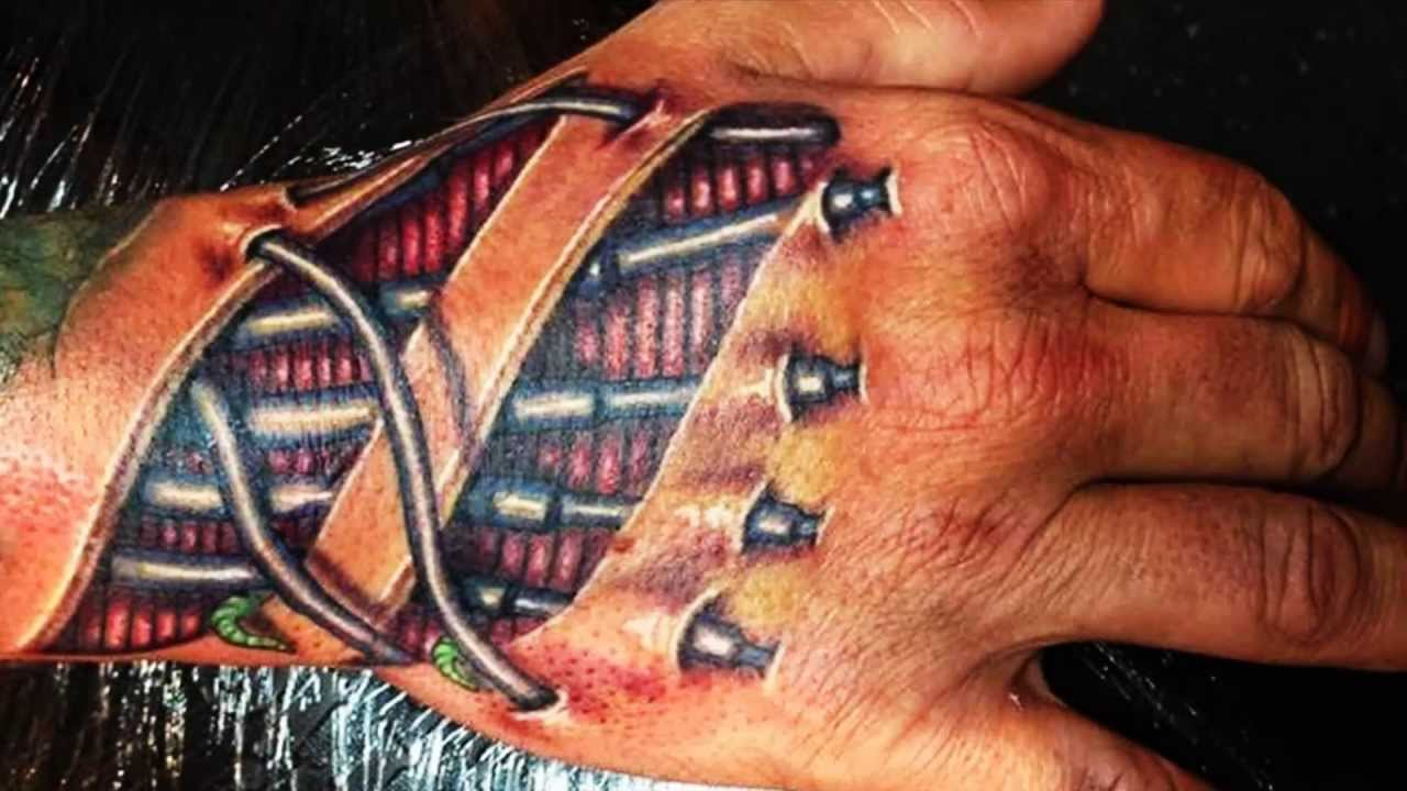 Biomechanik Tattoo Unterarm Best 3d Tattoos - 3d Hand Tattoo Designs Part 1 - Youtube