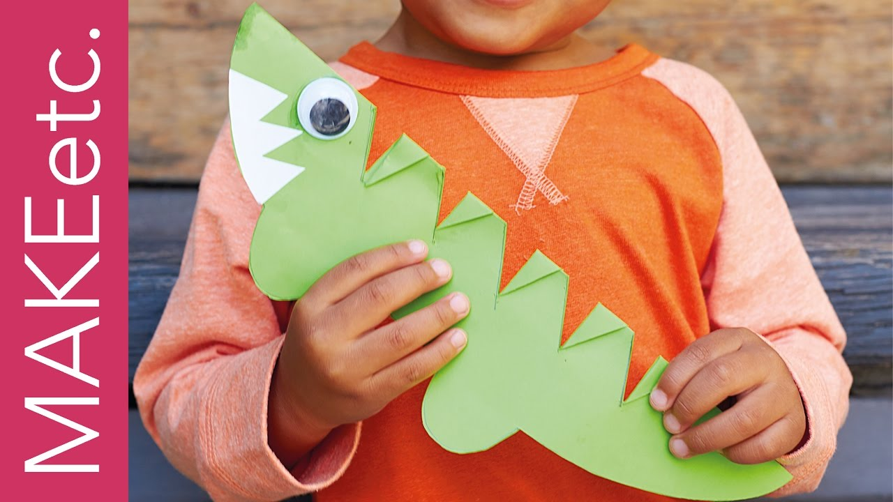 How To Make A Super Simple Snappy Crocodile Paper Crafting Project