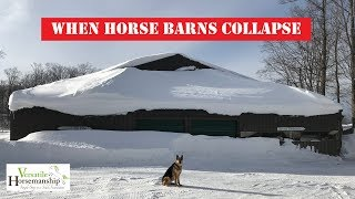 When Horse Barns Collapse!  Snowpocalypse, Part 5 // Versatile Horsemanship