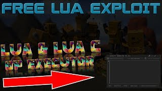 [NEW] FREE ROBLOX EXPLOIT | LUA & LUA C EXECUTOR (Working!)