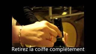 Champagne Jeeper - Retirer la coiffe en 4 étapes