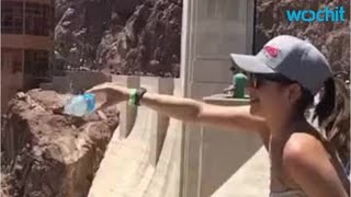 At The Hoover Dam Water Pours Up