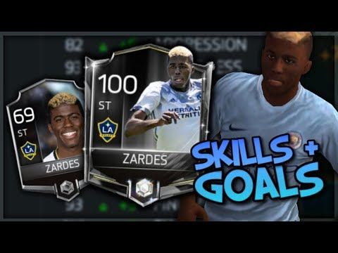 100 Gyasi Zardes : Skills & Goals : FIFA Mobile 18 S2 + Free Icon Pack! Best Silvers!