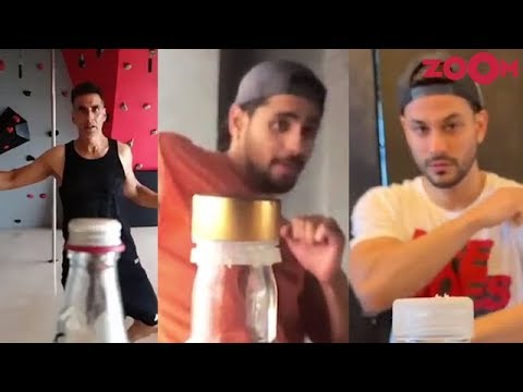 Bollywood stars take the Bottle cap challenge | Insta Zoom