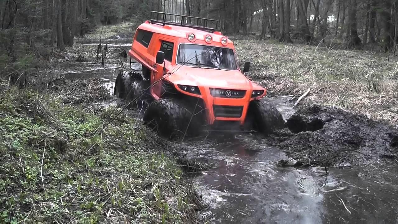 Вездеходы Литвина. All-terrain vehicle Litvina. Болото, торф, грязь.