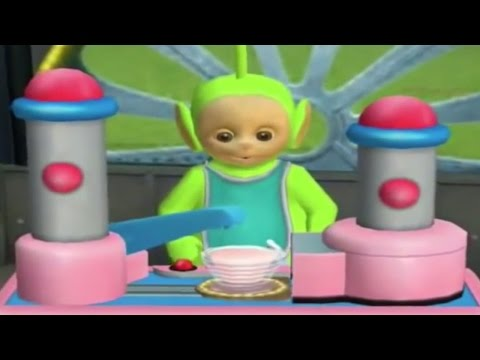 Make Tubby Custard with Tinky Winky, Dipsy, Laa Laa and Po on the Teletubbies App | Teletubbies Toys