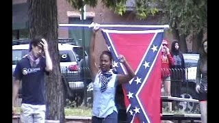 Confederate flag burning hottie pwns Ridley