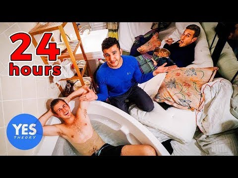 24 HOURS locked in a bathroom (friendship experiment)