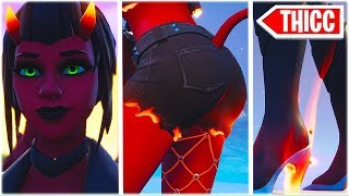 BIG ASS + HIGH HEEL BOOTS + FISHNET = THICC MALICE SKIN 😍❤️ FORTNITE DONT TOUCH YOURSELF!