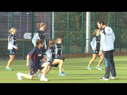 Volunteer Alice Green spends day with England Women's Cricket Team