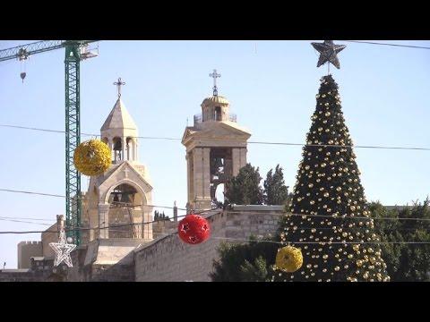 Christmas decorations adorn biblical West Bank town of Bethlehem - Christmas Decorations Adorn Biblical West Bank Town Of Bethlehem
